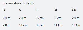 2xu men's size guide